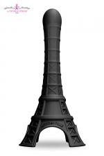 Gode La Tour Est Folle - noir : Un gode fun et original en forme de Tour Eiffel stylisée, en silicone soft touch haute qualité. Coloris noir.