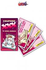 Coupons XXX - Un carnet de 10 faveurs sexuelles HOT à souhait pour mettre votre couple en ébullition!