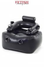 Fauteuil gonflable BDSM - Fauteuil gonflable très solide, dédié aux jeux BDSM grâce à ses liens fixés au niveau des chevilles, poignets et bras.