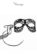 Masque Fragile - Faire Hommage : Masque coquin en cuir d'agneau, fait à la main,  avec découpes raffinées et sensuelles.