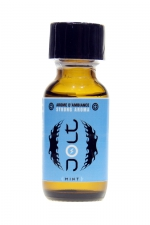 Poppers Jolt Blue Menthe 25ml : Puissant arôme d'ambiance aphrodisiaque à l'odeur de menthe. Poppers made in France by Jolt, Nitrite de Propyle, flacon de 25 ml.